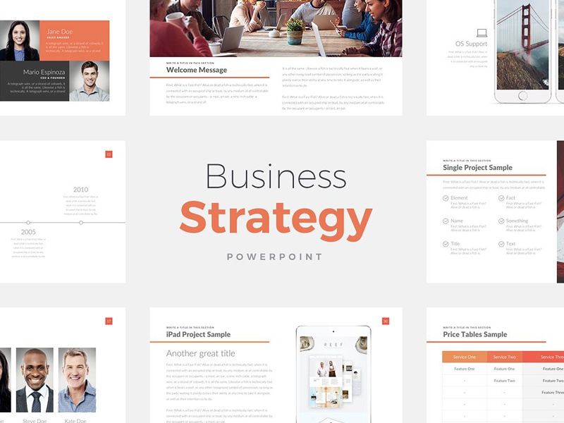 Business Strategy Deck Powerpoint By Templates On Dribbble