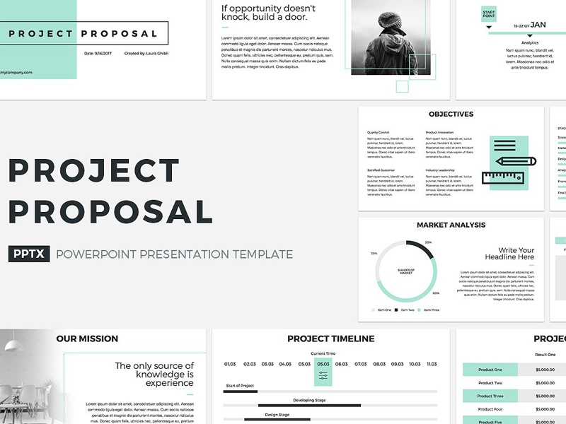 project proposal powerpoint template by templates
