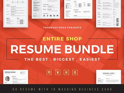ENTIRE SHOP !! Resume/CV Bundle designer resume resume design resume template cv design professional cv cv template cover letter resume bundle bundle cv bundle resume templates