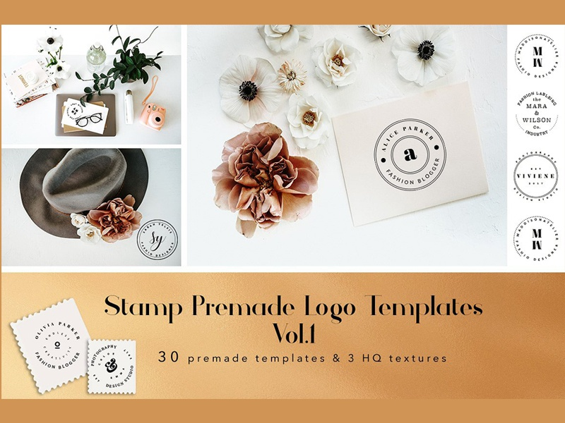 stamp premade logo templates vol 1 free download by templates