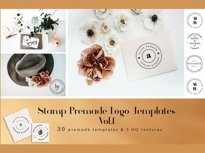 Stamp Premade Logo Templates Vol.1 - FREE Download by Templates ...