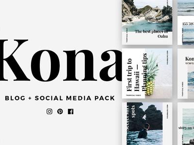 KONA Blog & Social Pack - FREE Download