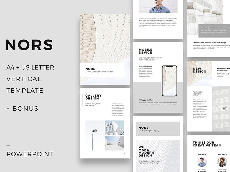 nors vertical powerpoint   20 photos by templates on dribbble