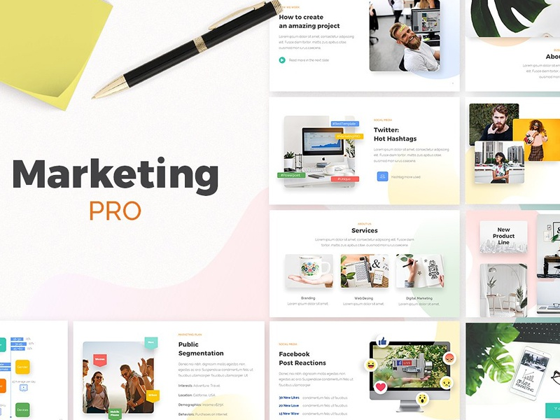 marketing pro powerpoint template by templates dribbble dribbble