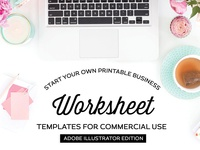 Worksheet Templates for Illustrator - FREE Download