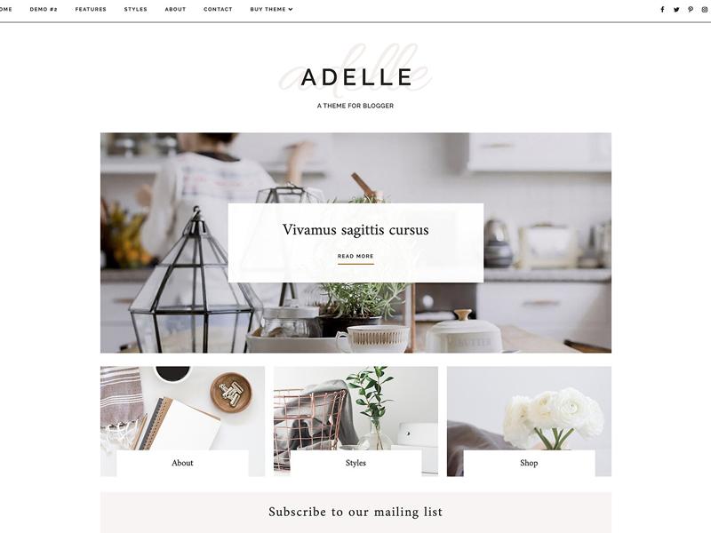 Responsive Blogger Template Adelle