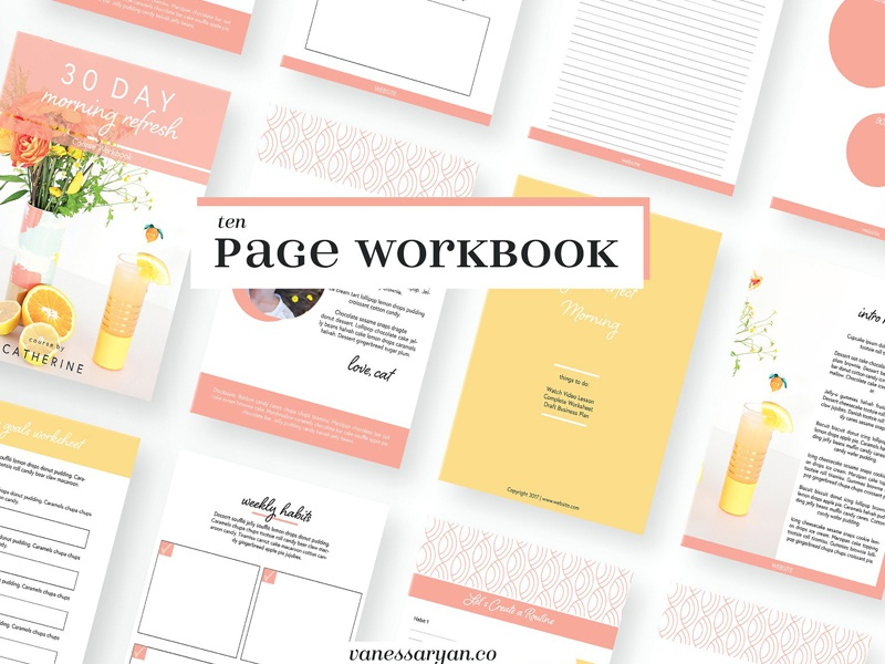 happy chic workbook canva or adobe by templates dribbble dribbble
