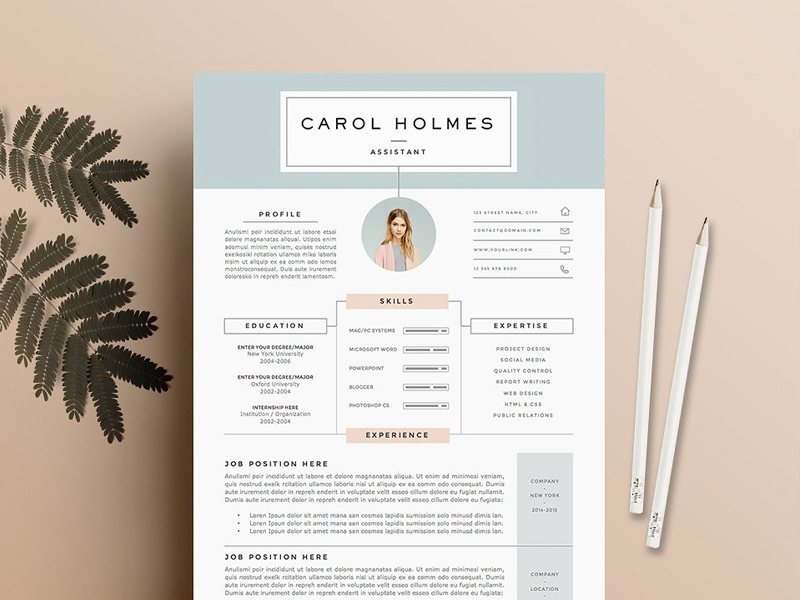 Resume Template 5 Pages Milky Way By Templates Dribbble