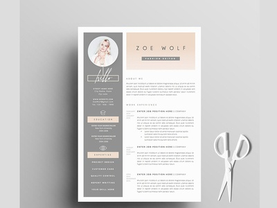 resume template 5pages dolce vita by templates dribbble