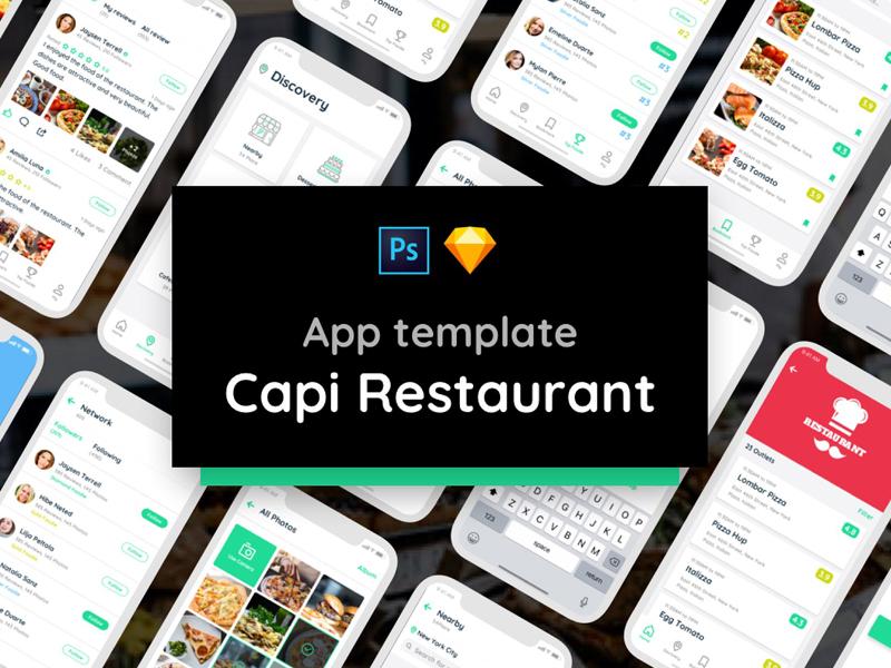 capi restaurant ui kit ios iphone x by templates dribbble dribbble