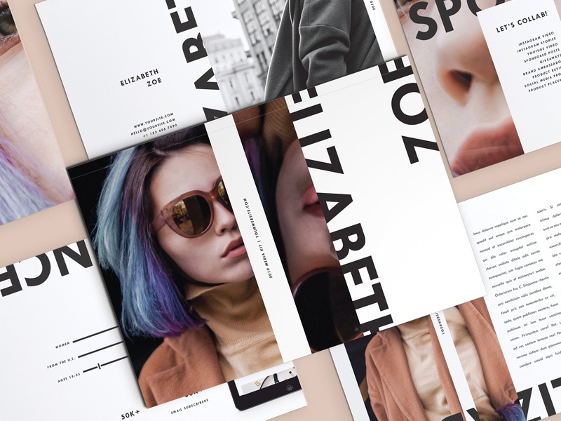 media kit for influencers 6 pages free download by templates
