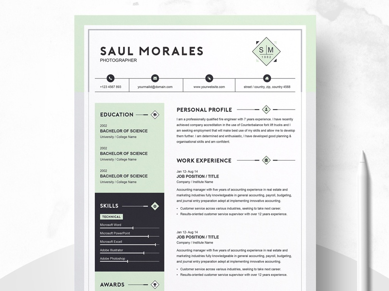 Resume Template 3 Page | CV Template by Templates on Dribbble