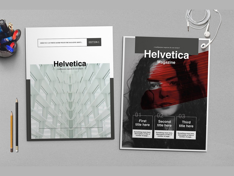 Helvetica Magazine Indesign Template by Templates on Dribbble