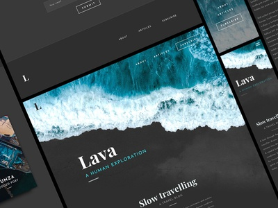 Lava - A Responsive Blog Template travel template blog post blog theme web theme website theme sketch template blog template blog responsive blog template blogger template website