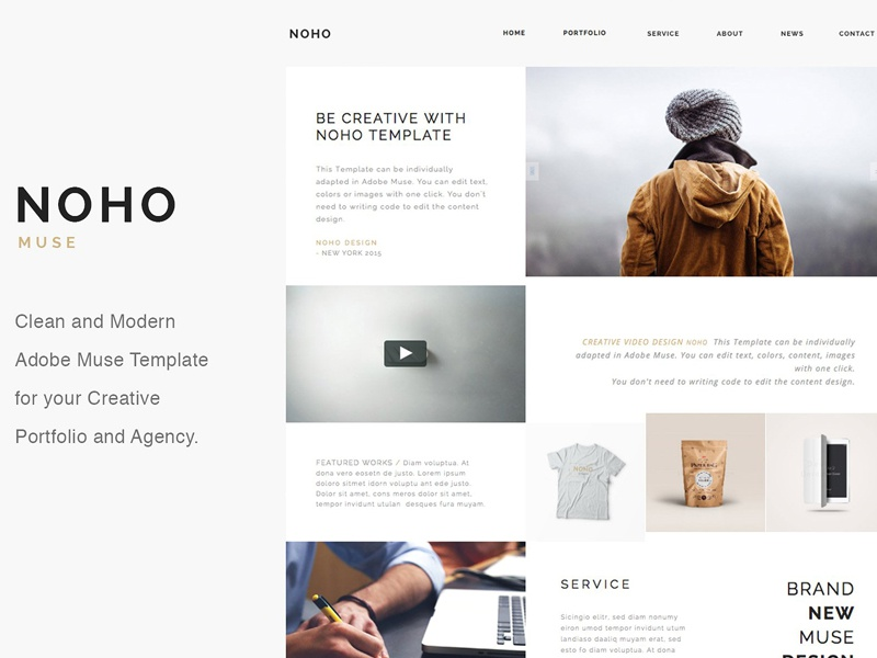 Noho Creative Muse Template By Templates Dribbble Dribbble