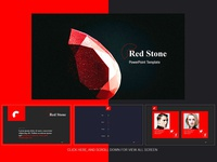 Red stone PowerPoint Template