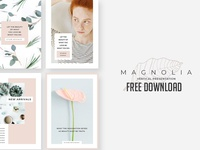 FREE DOWNLOAD - Magnolia Vertical PowerPoint