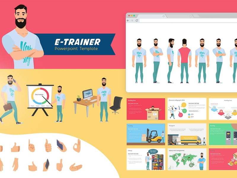E Trainer Powerpoint Template 1 By Templates Dribbble Dribbble