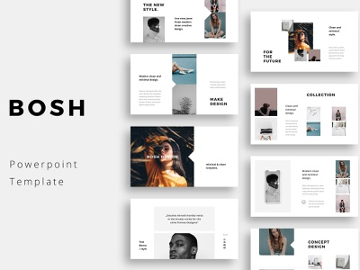 BOSH - Powerpoint Template branding feminine design keynote slideshow fashion professional elegant simple creative templates modern business minimal clean presentation template powerpoint presentation powerpoint template powerpoint