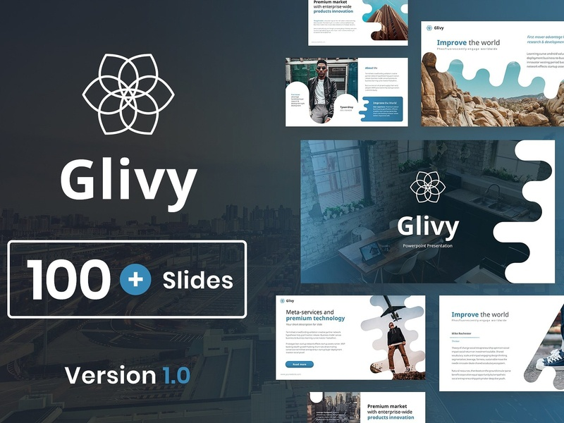 glivy modern powerpoint template by templates dribbble dribbble