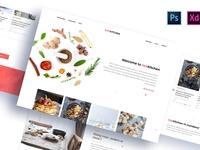 HotKitchen: PSD & XD Templates