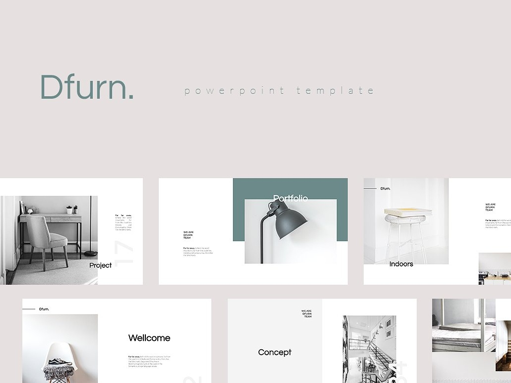 Dfurn PowerPoint Template by Templates on Dribbble