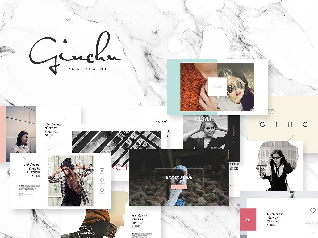 Ginchu Powerpoint Template By Templates Dribbble Dribbble