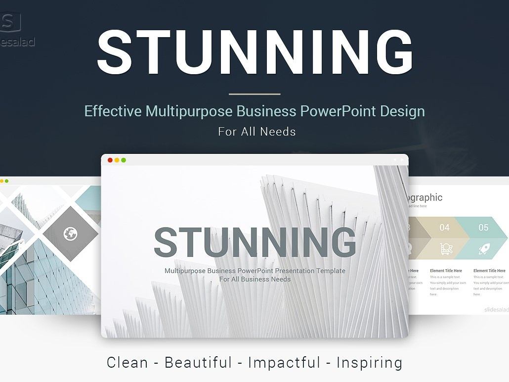 best stunning powerpoint template by templates dribbble dribbble