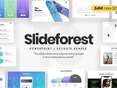 Slideforest PowerPoint + Keynote