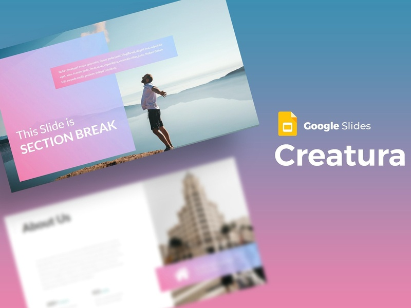 creatura google slides template by templates dribbble dribbble