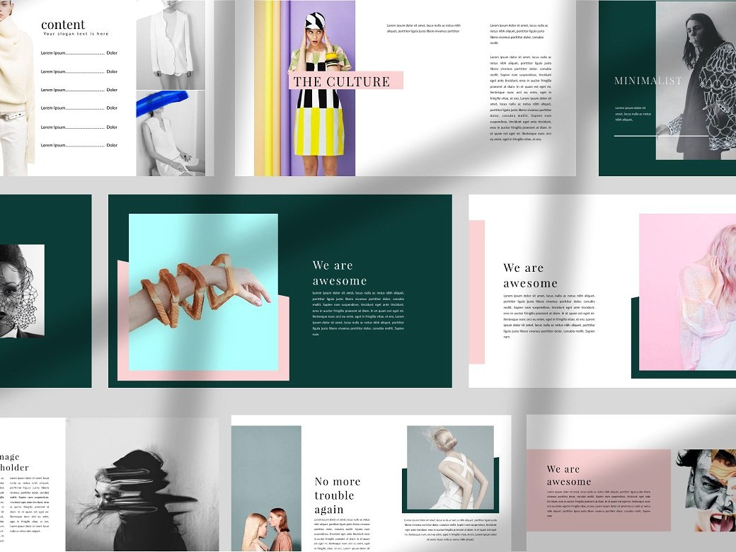 portfolio creative powerpoint by templates dribbble dribbble