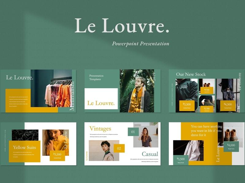 Le Louvre Presentation Point Company Corporate Unique Professional Elegant Branding Simple Templates Creative Business Minimal