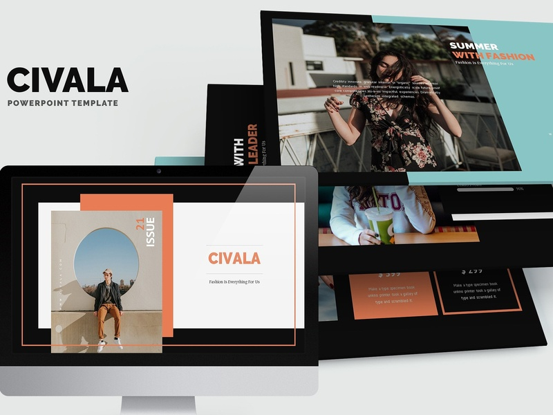 Civala : Summer Fashion Powerpoint by Templates on Dribbble