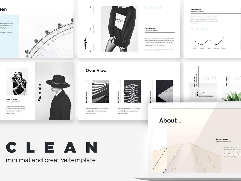 Minimal Clean Creative Point Presentation Template Multipurpose Modern Business Templates Simple Elegant