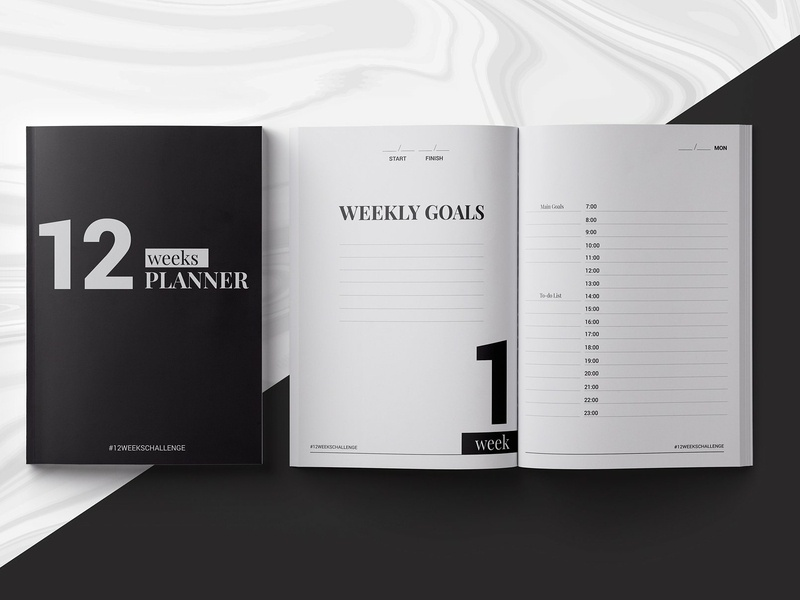 Indesign Templates | 12 Weeks Planner Indesign Template By Templates Dribbble Dribbble