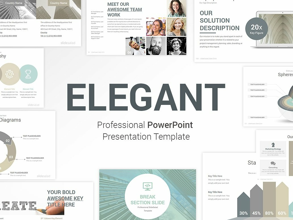 Elegant Powerpoint Template Pack By Templates On Dribbble
