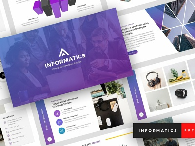 Informatics - PowerPoint Template creative presentation clean modern template marketing unique elegant multipurpose technology agency business corporate company it company computer tech informatics presentation informatics powerpoint template informatics