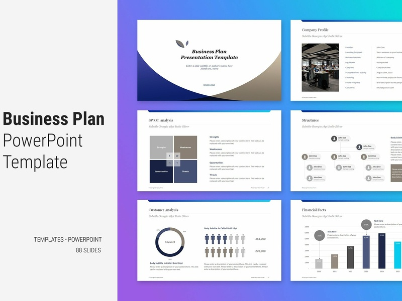 Business Plan Template By Templates On Dribbble