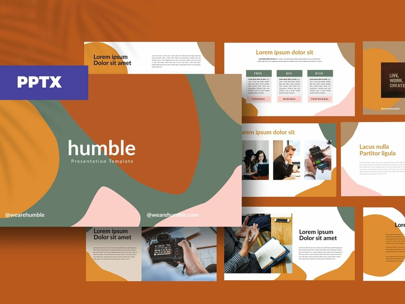 humble - Presentation corporate branding professional elegant templates business presentation simple clean modern template botanical trending minimal lookbook catalog multipurpose creative presentation humble