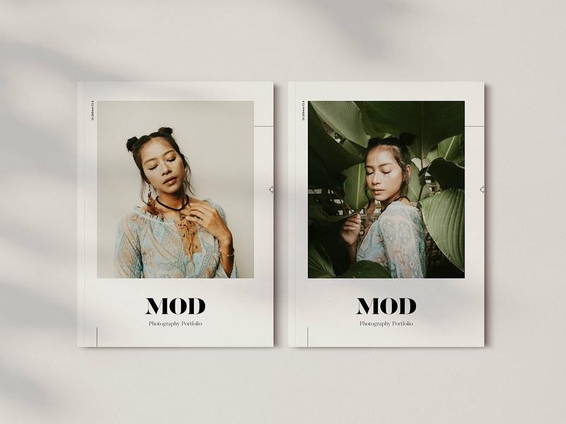 Mod Portfolio clean modern template portfolio design minimal magazine lookbook graphic folio fashion editorial design creative catalogue catalog booklet agency portfolio mood mod portfolio