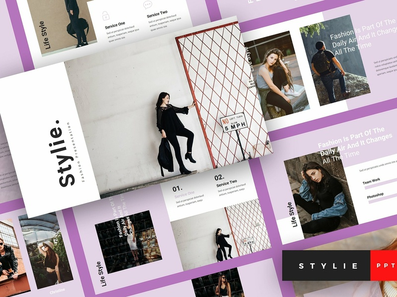 Stylie - Fashion PowerPoint Template by Templates on Dribbble