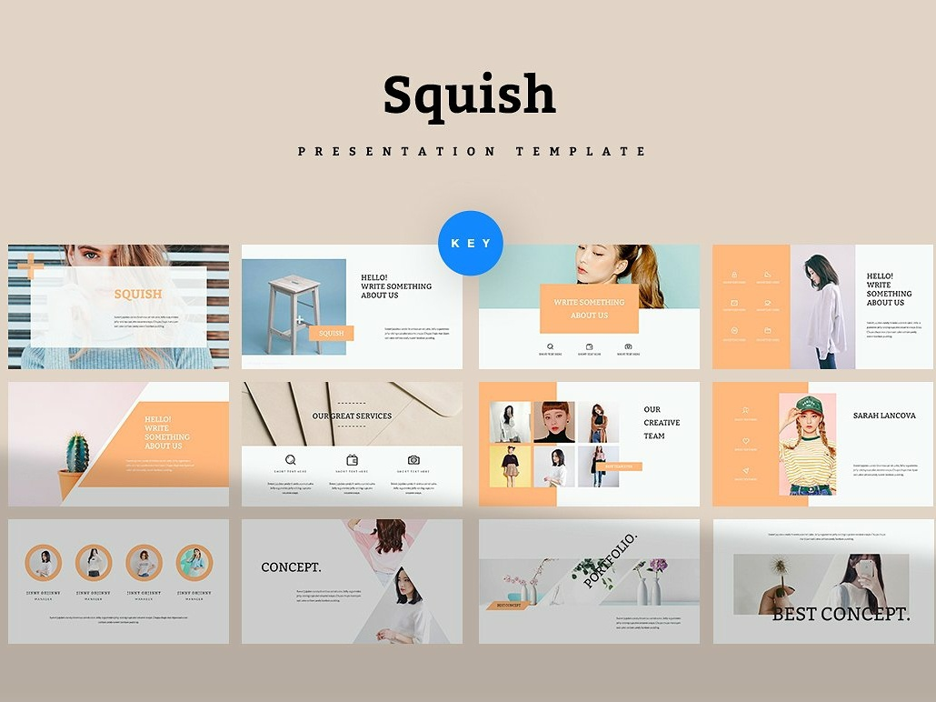 Squish Keynote Template elegant templates creative minimal clean modern template fashion magazine brochure startup business marketing branding simple squish keynote template squish keynote keynote presentation keynote template