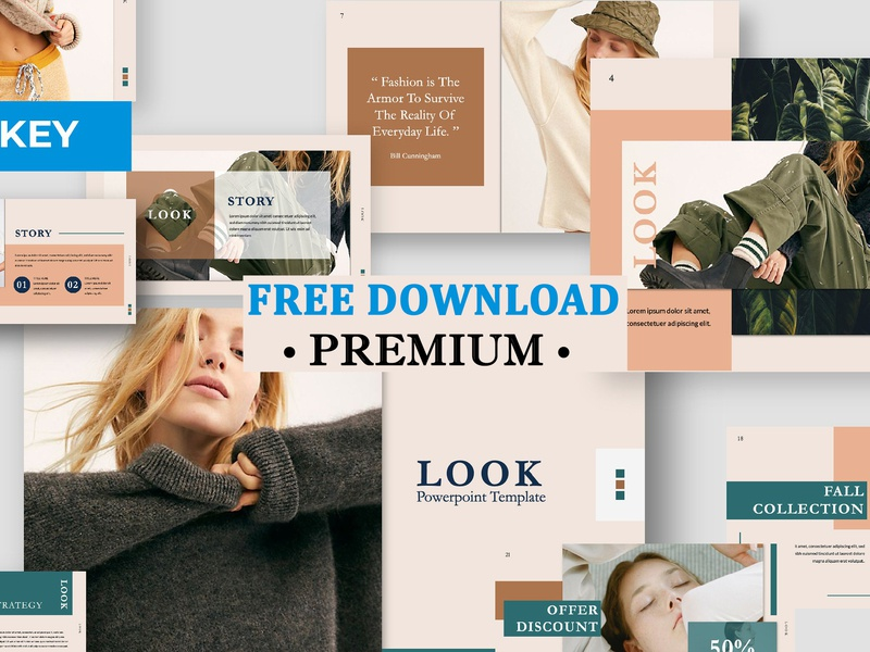 Free Premium Download - Look Keynote Template by Templates