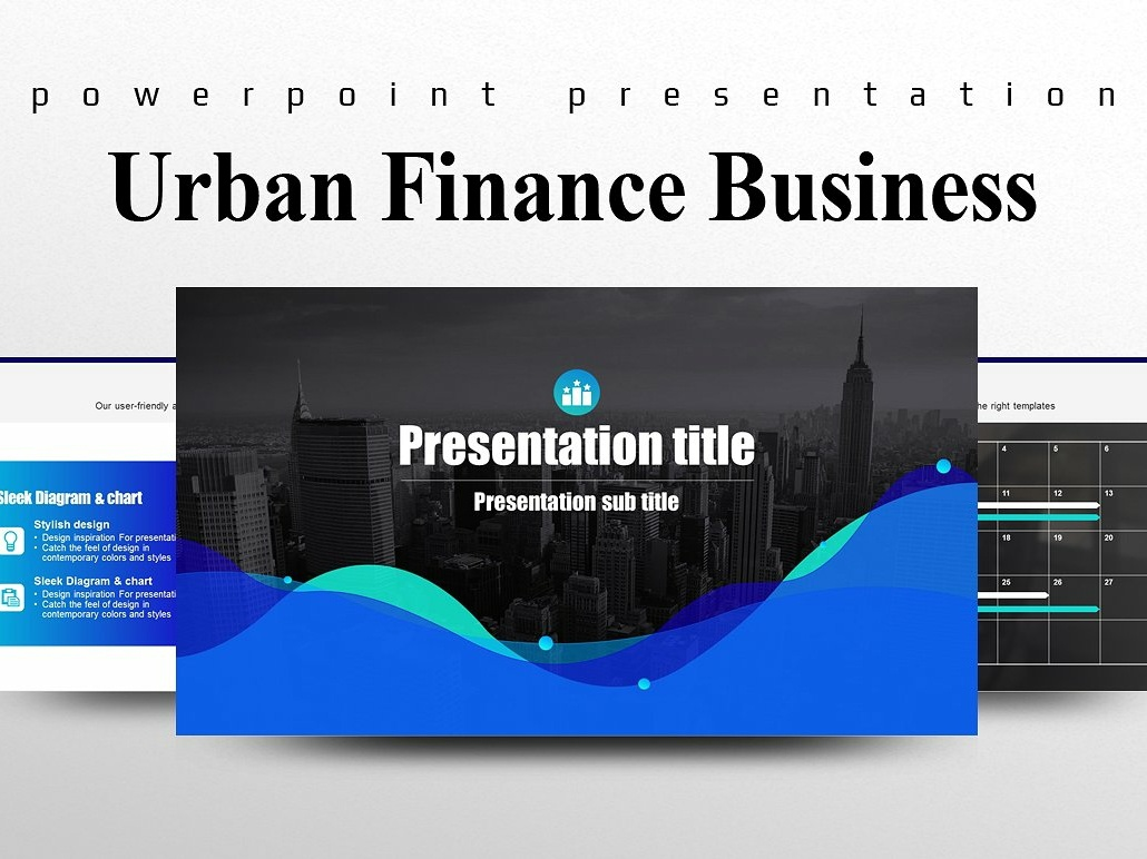 Urban Finance Business Ppt Template By Templates On Dribbble