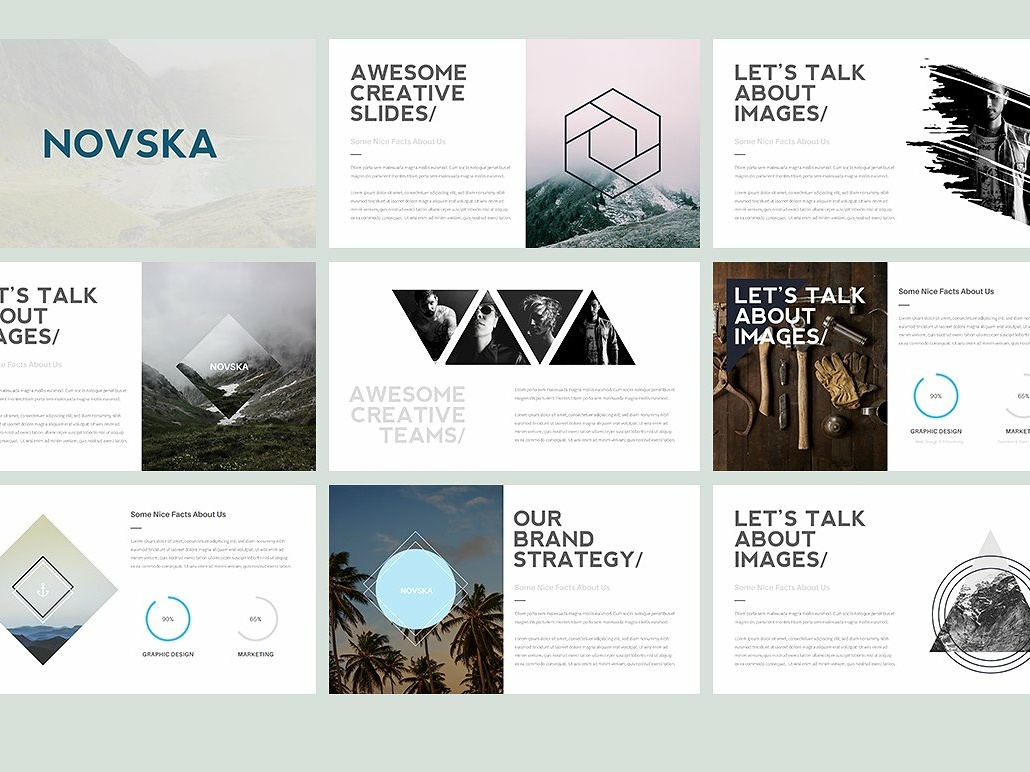 Novska Modern Powerpoint Template By Templates On Dribbble