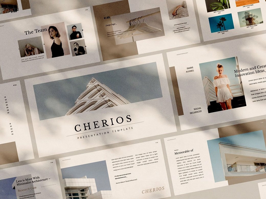 Cherios Powerpoint Template multipurpose fashion portfolio design presentation template corporate branding professional elegant templates creative presentation business minimal simple modern clean template powerpoint powerpoint template