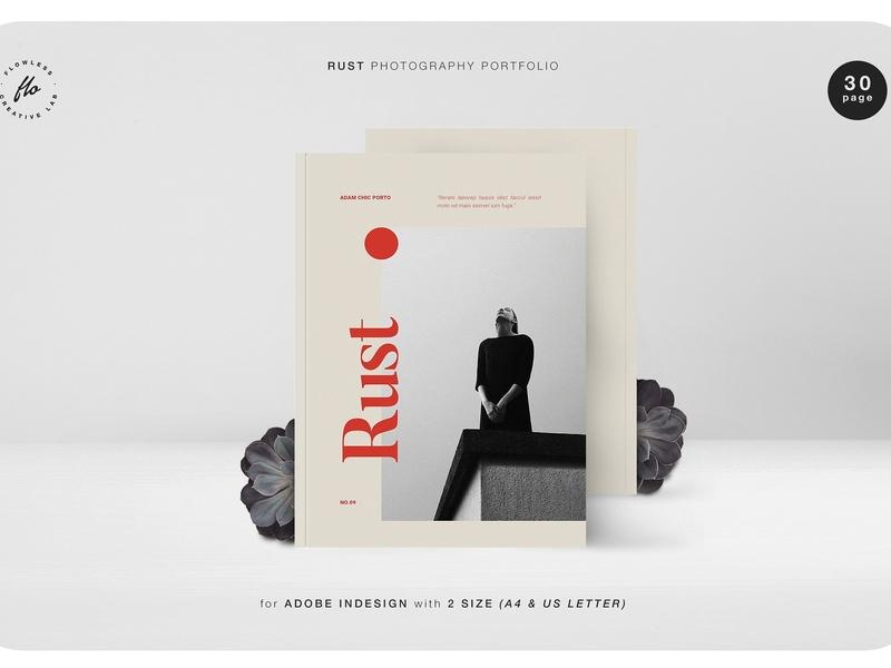 photo about Printable Portfolio identified as RUST Pictures Portfolio via Templates upon Dribbble