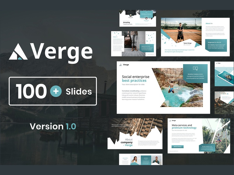 Verge Modern Powerpoint Template By Templates On Dribbble