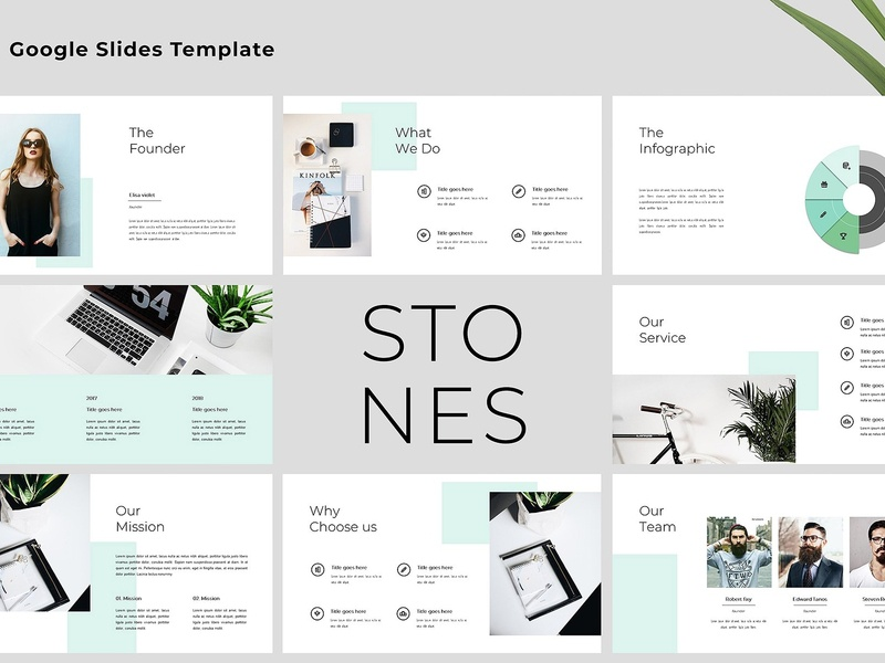 Stones -Modern & Clean Google Slides by Templates on Dribbble