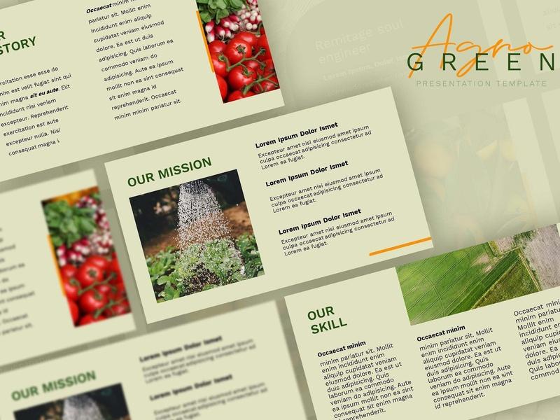 Agrogreen - Plantation Powerpoint templates simple creative clean modern business agriculture start up hydroponic estate company farm minimal plant presentation template plantation powerpoint powerpoint plantation template plantation plant